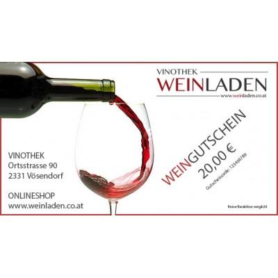 Weingutschein, Wert 20 Euro